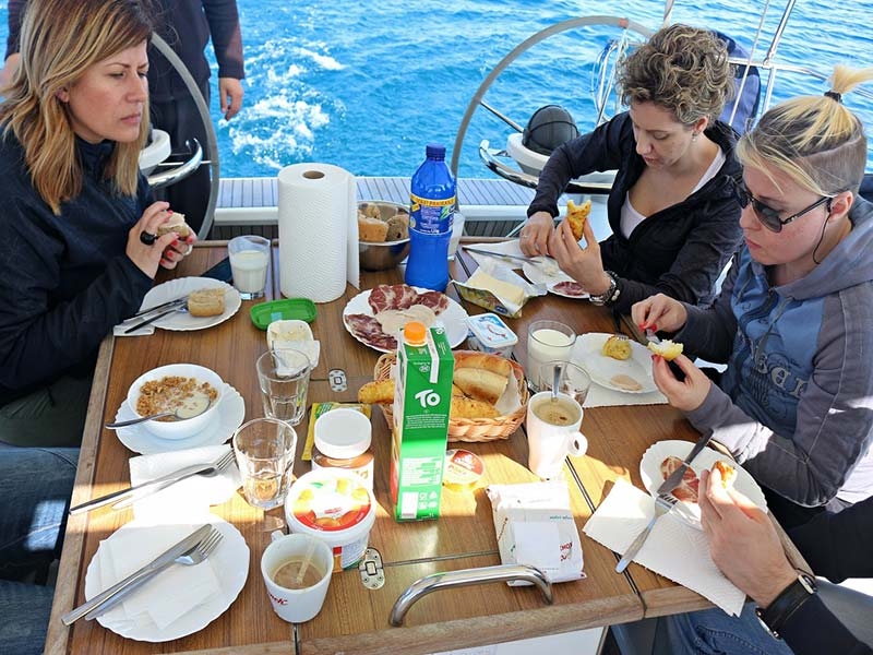 Cooking on the yacht during your charter